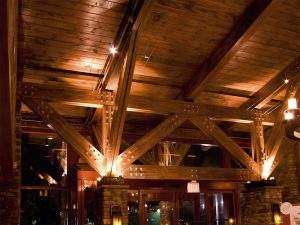 Timber Trusses with lights